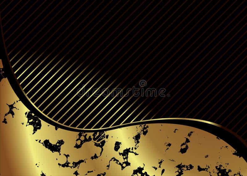 Goldenes Knistern lizenzfreie abbildung