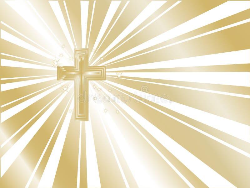 Goldenes Kreuz lizenzfreie abbildung
