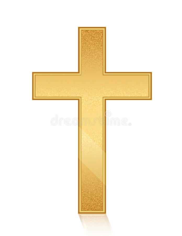 Goldenes Kreuz vektor abbildung