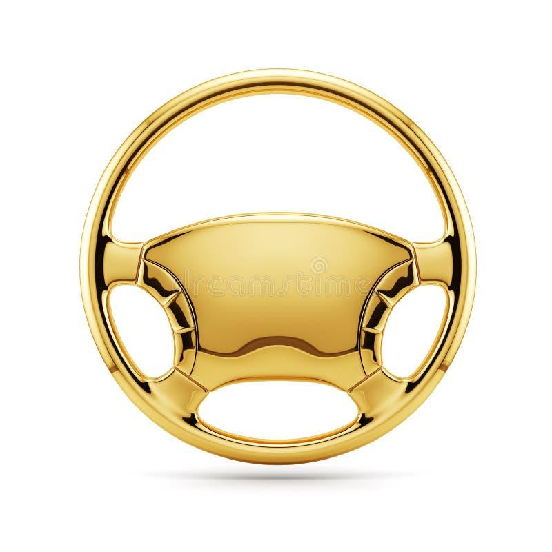 Goldenes Lenkrad vektor abbildung
