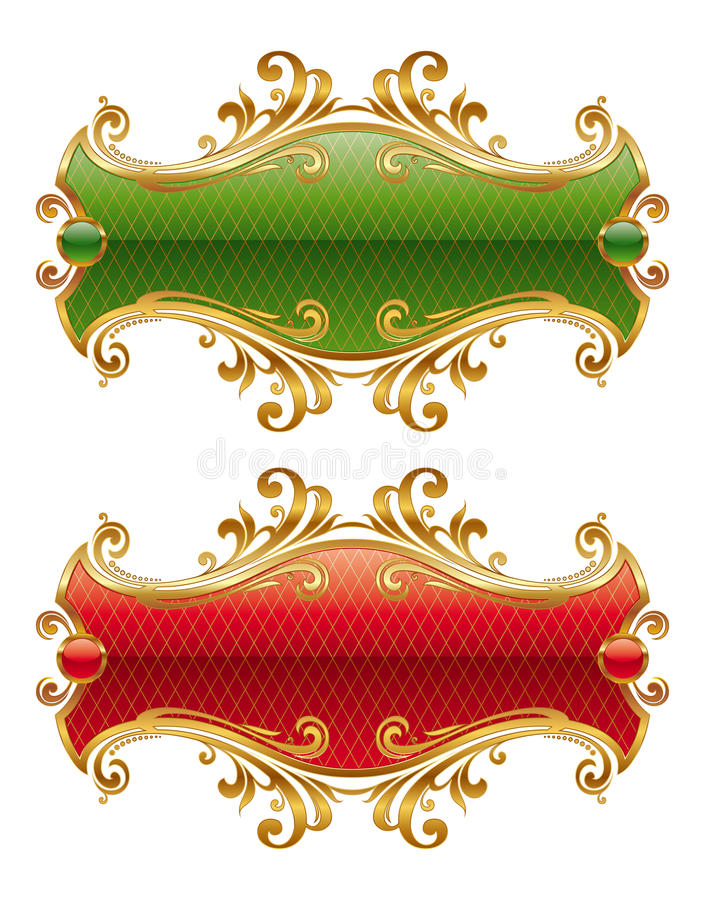 Goldenes Luxuxfeld vektor abbildung