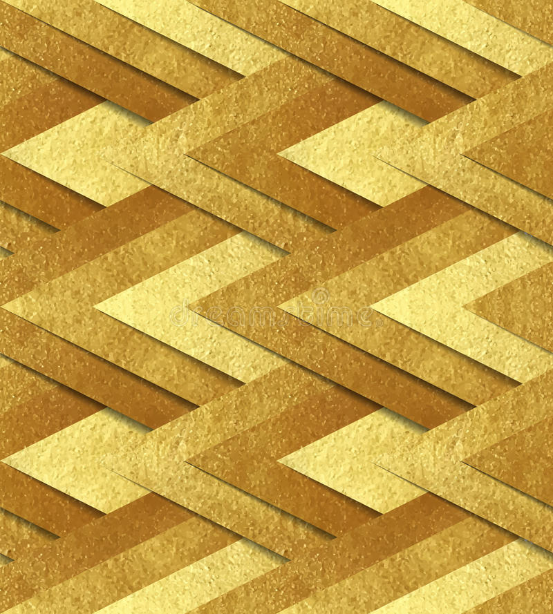 Goldenes metallisches nahtloses Muster vektor abbildung