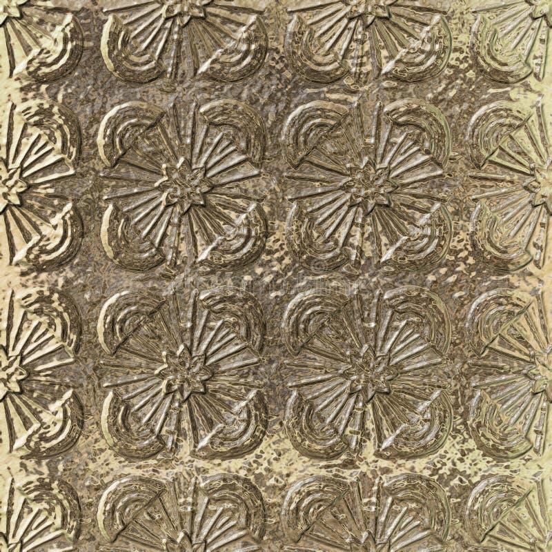 goldenes metallisches nahtloses Muster 3D lizenzfreie abbildung