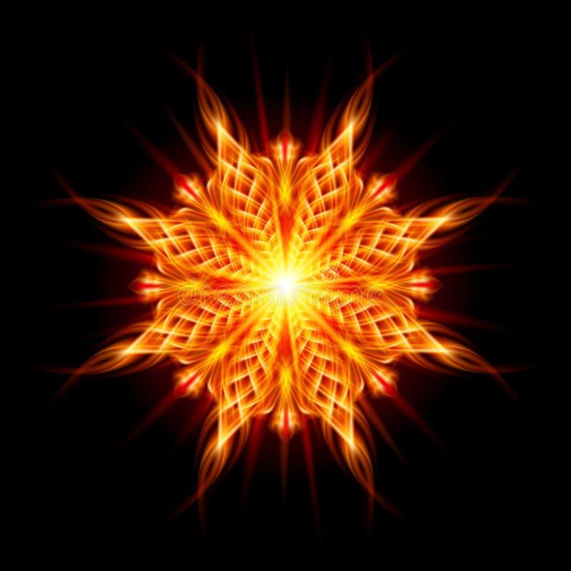 Goldenes Muster auf dem schwarzen Hintergrund vektor abbildung