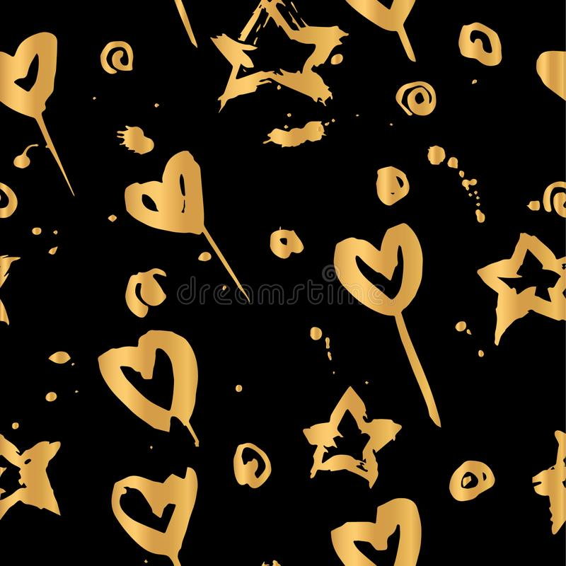 Goldenes Muster des Handabgehobenen betrages stockfotografie
