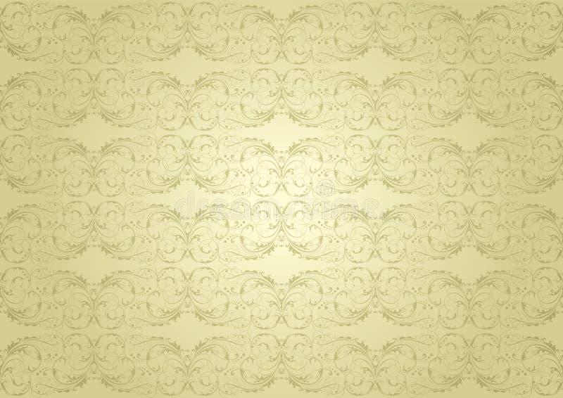 Goldenes Muster des Hintergrundes stock abbildung
