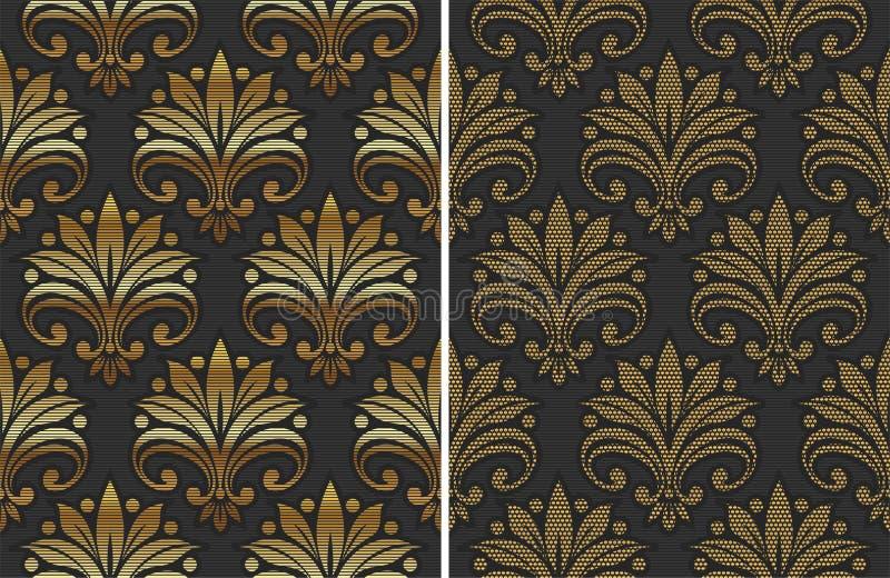 Goldenes nahtloses Muster vektor abbildung