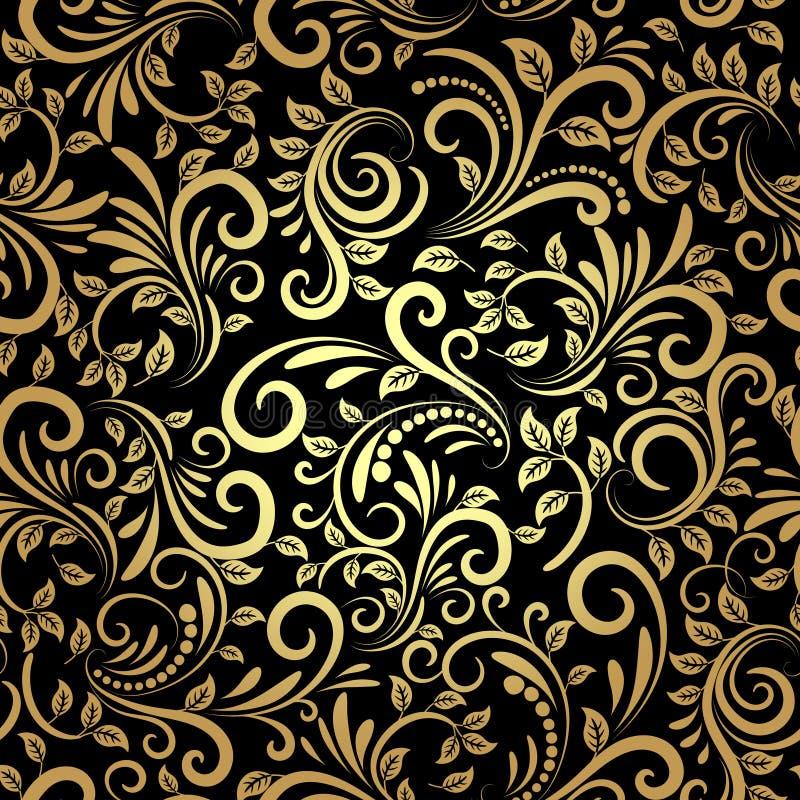 Goldenes nahtloses Muster stock abbildung