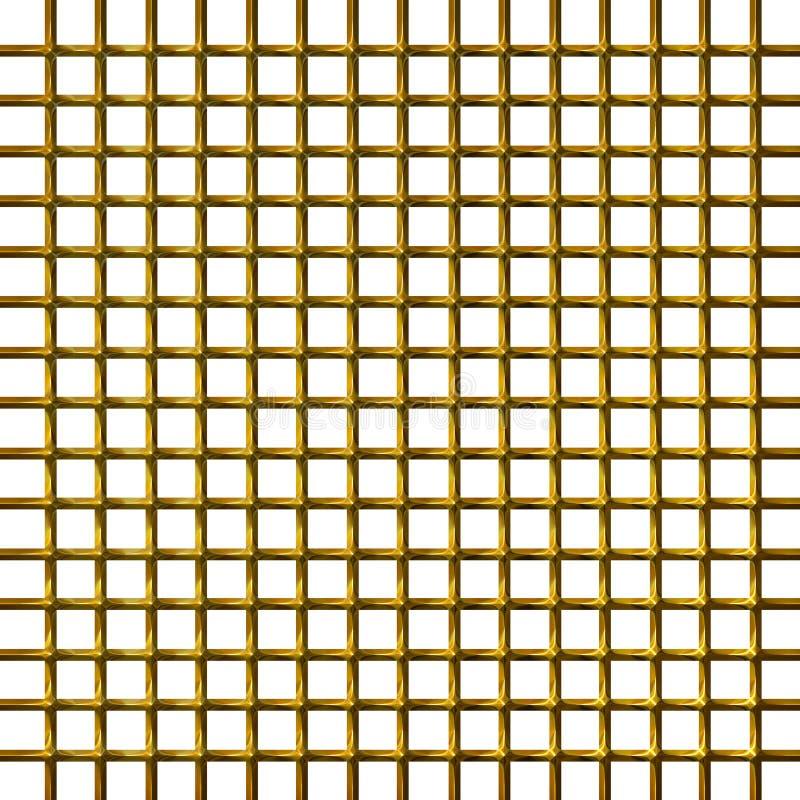goldenes Netz 3D lizenzfreie abbildung