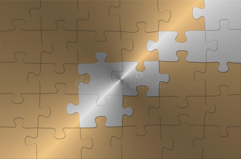 Goldenes Puzzlespiel lizenzfreie abbildung