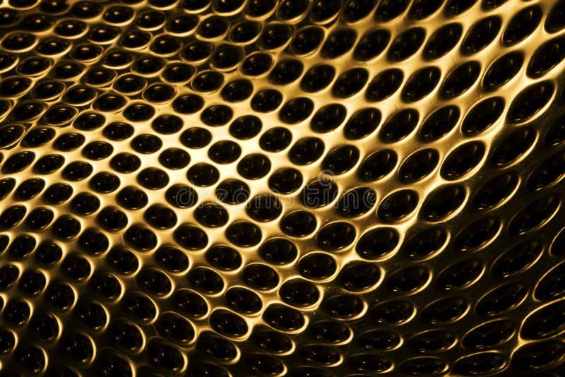 Goldenes Rasterfeld stockfotos