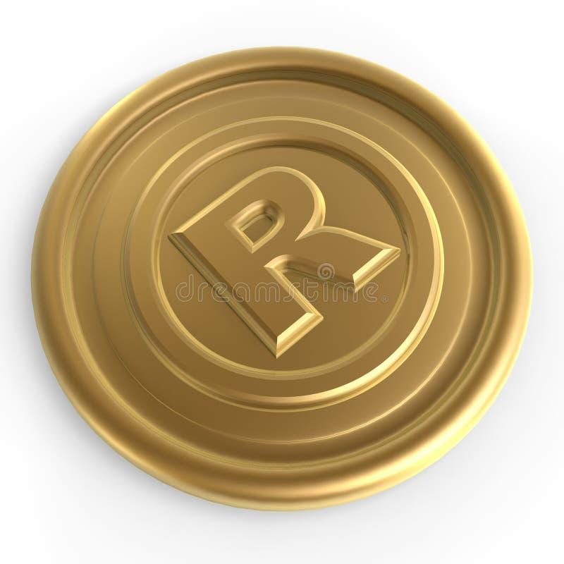 Goldenes Registerzeichenchip lizenzfreie abbildung