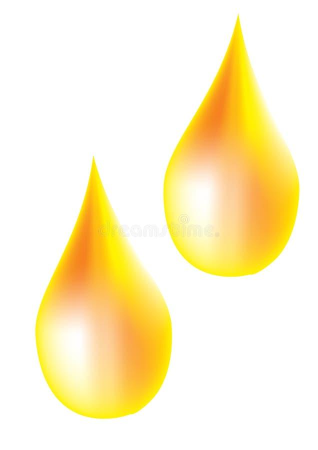 Goldenes Schmieröl-Tropfen - Vektor lizenzfreie abbildung