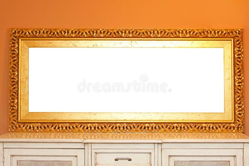 Goldenes Spiegelfeld lizenzfreie stockbilder