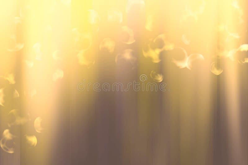 Goldenes Steigungshintergrundsubstrat beschichtete mit einem grellen Glanz des Lichtes stockfotos
