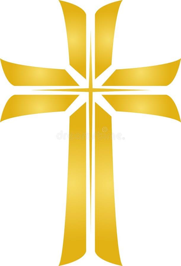 Goldenes Stern-Kreuz/ENV stock abbildung