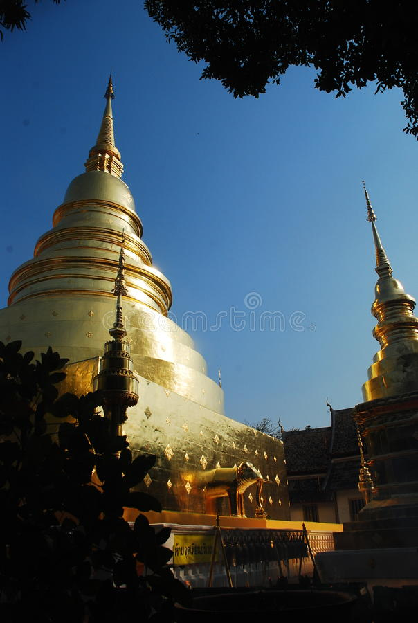 Goldenes stupa stockfoto
