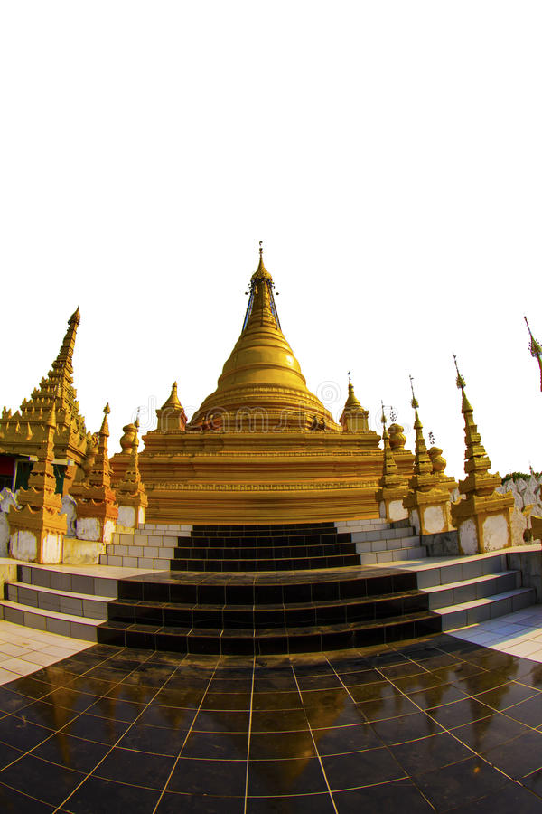 Goldenes stupa in Mandalay lizenzfreies stockfoto