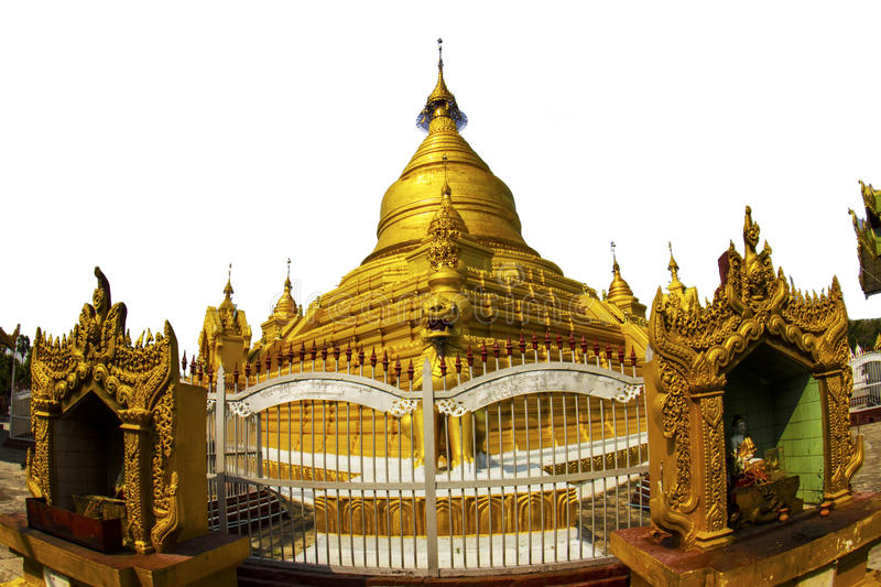 Goldenes stupa in Mandalay stockbilder