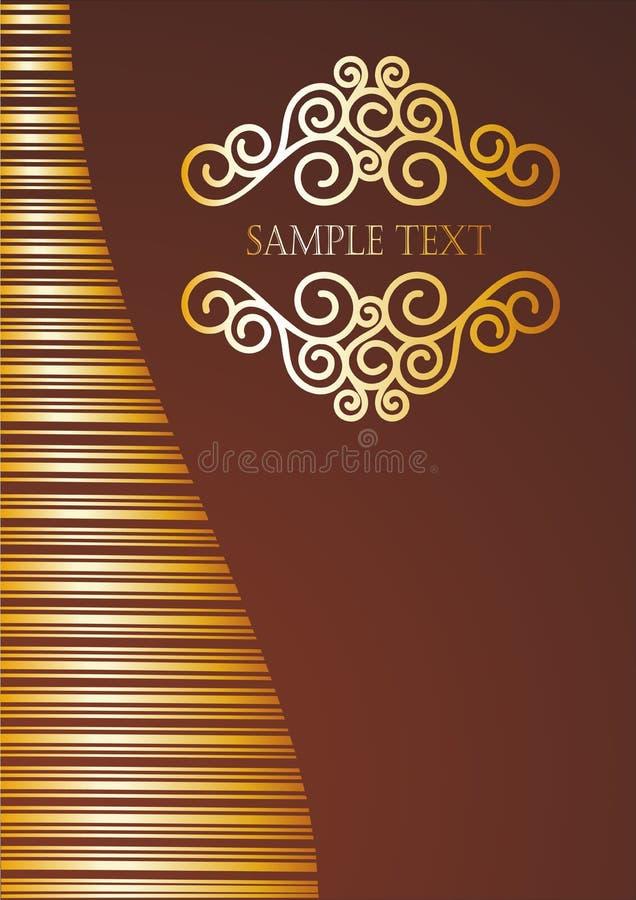 Goldenes Titelblatt lizenzfreie abbildung