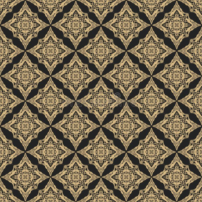 Goldenes und schwarzes geometrisches abstraktes Luxusmuster vektor abbildung