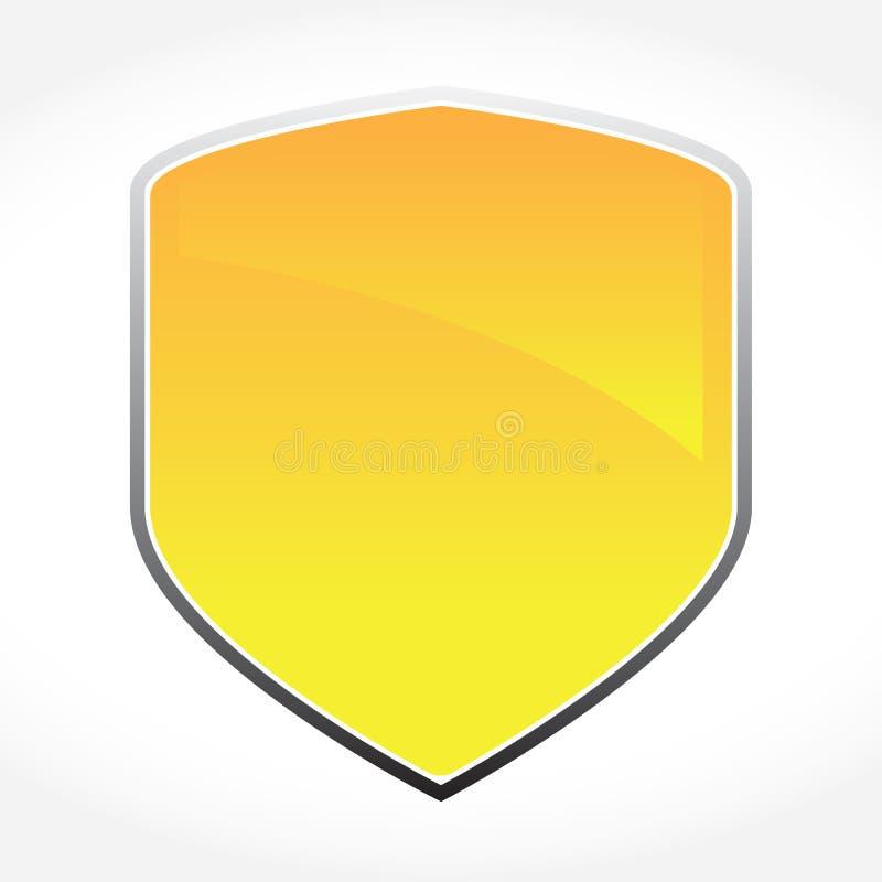 Goldenes Vektor-Schild stockfotografie