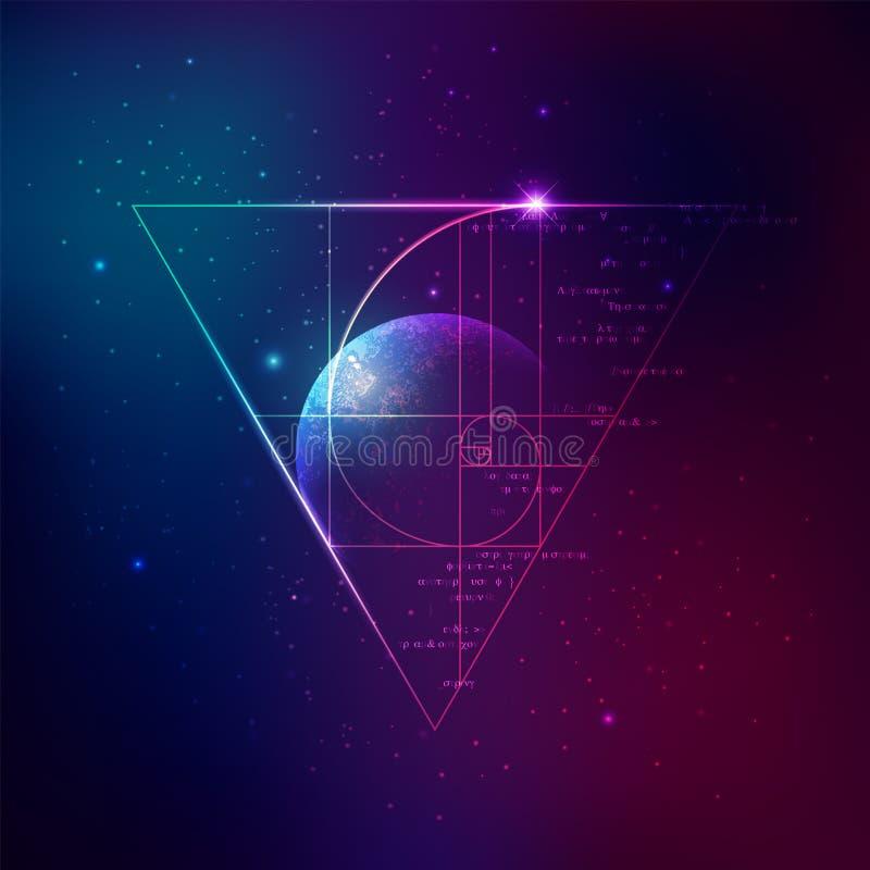 Goldenes Verhältnis vektor abbildung