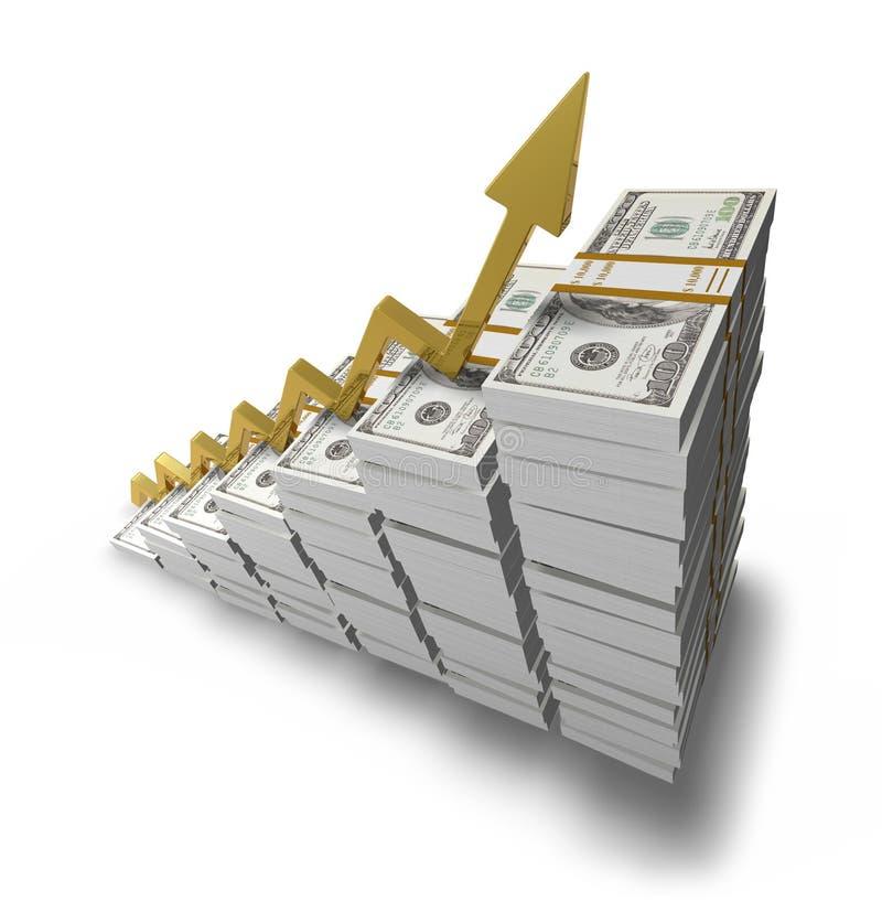 Goldenes Wachstum lizenzfreie abbildung