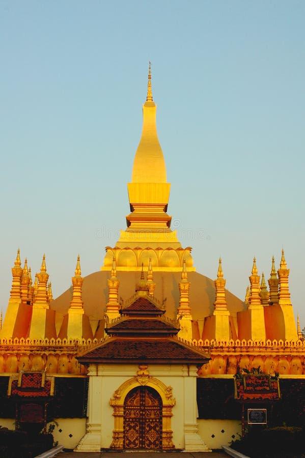 Goldenes Wat in Laos lizenzfreie stockfotos