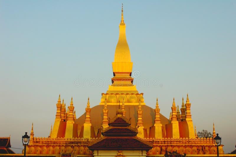 Goldenes Wat in Laos stockfoto