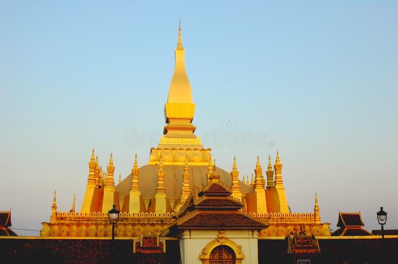 Goldenes Wat in Laos lizenzfreies stockbild