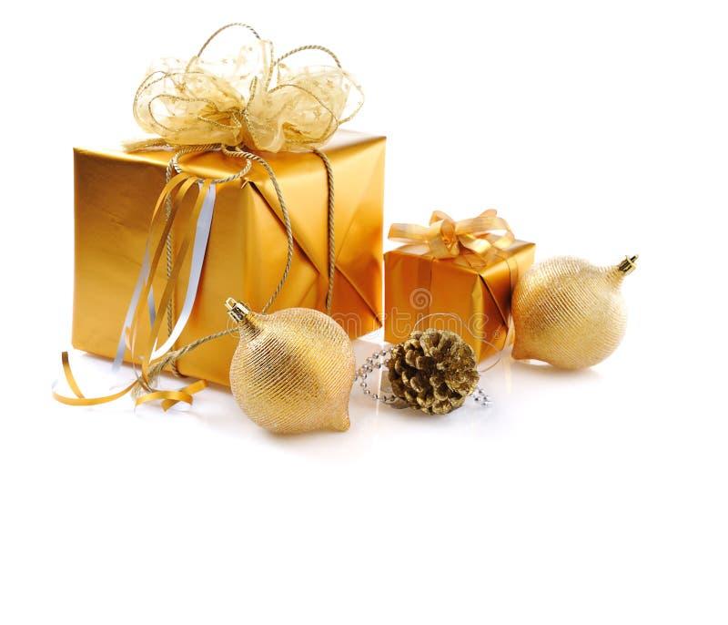 Goldenes Weihnachten lizenzfreie stockfotografie
