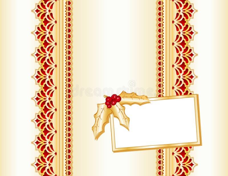 Goldenes Weihnachtsgeschenk stock abbildung
