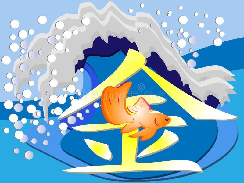 GoldenFish illustration libre de droits