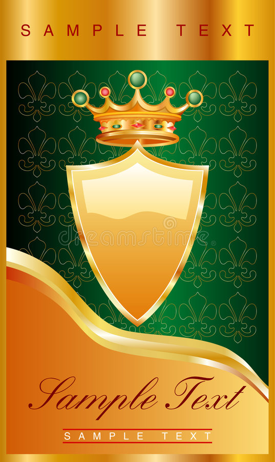 goldengreenlabel 皇族释放例证