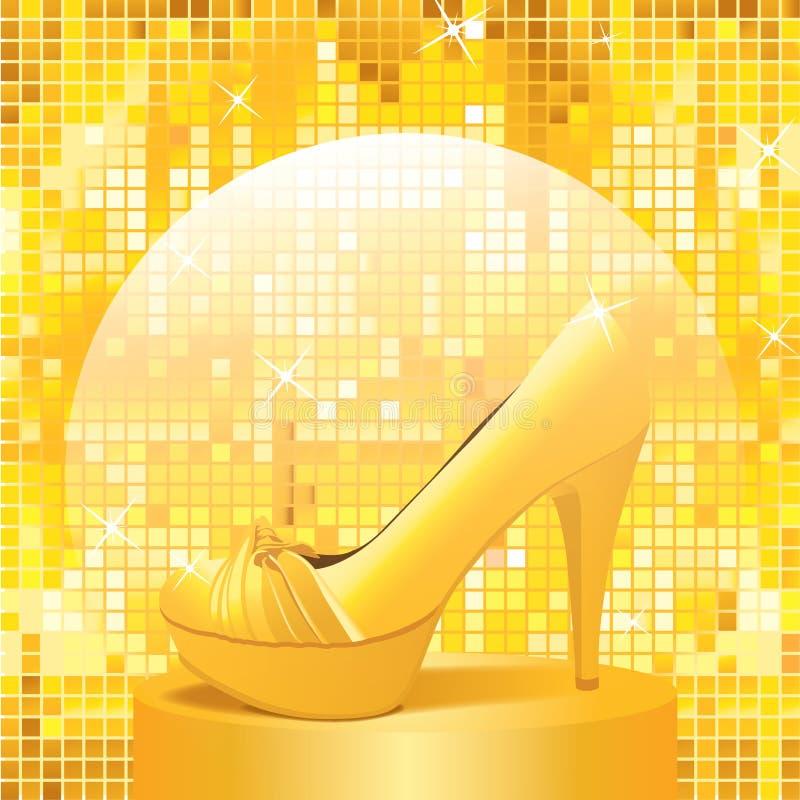GoldenShoe photographie stock