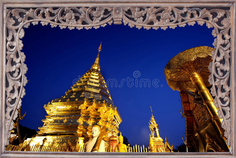 Download Goldent Pagoda On Top Of Suthap Mountain. Stock Image - Image: 24493903