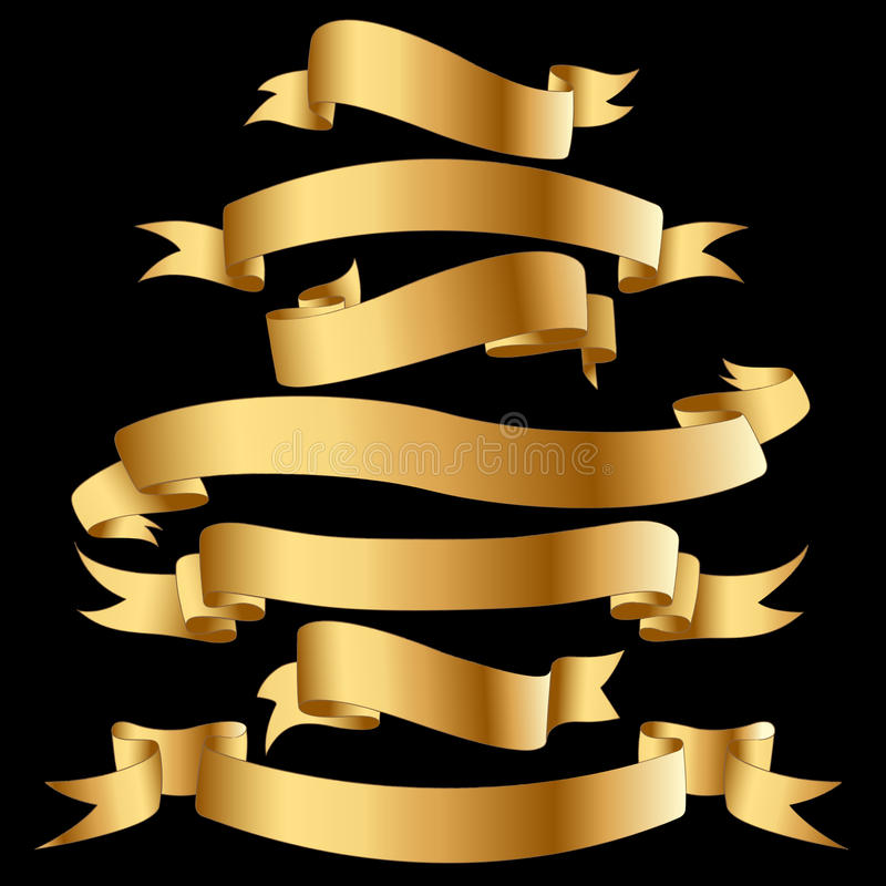Goldfahnen. stock abbildung