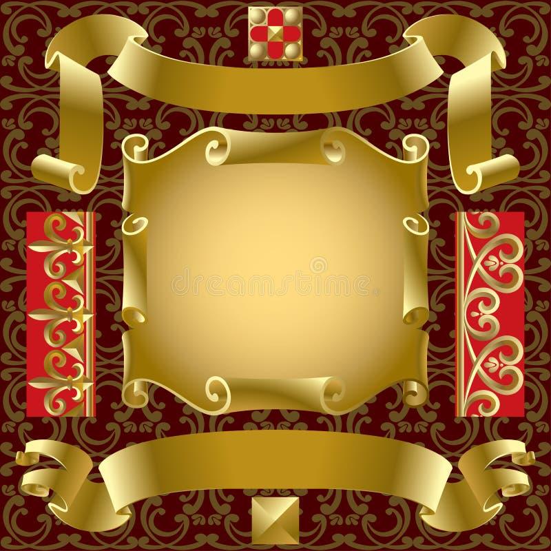 Goldfahnen vektor abbildung