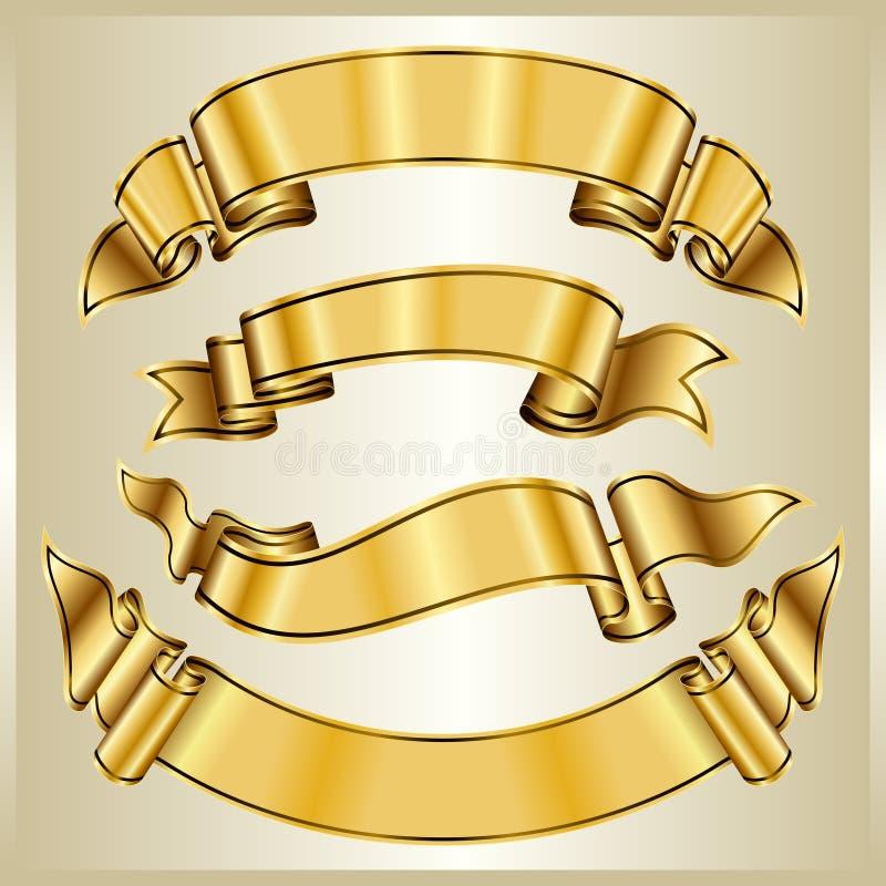 Goldfarbbandansammlung stock abbildung