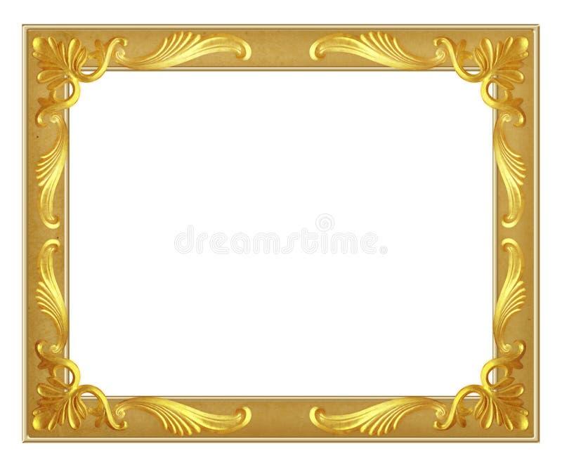 Goldfeld auf weißem Hintergrund lizenzfreie abbildung