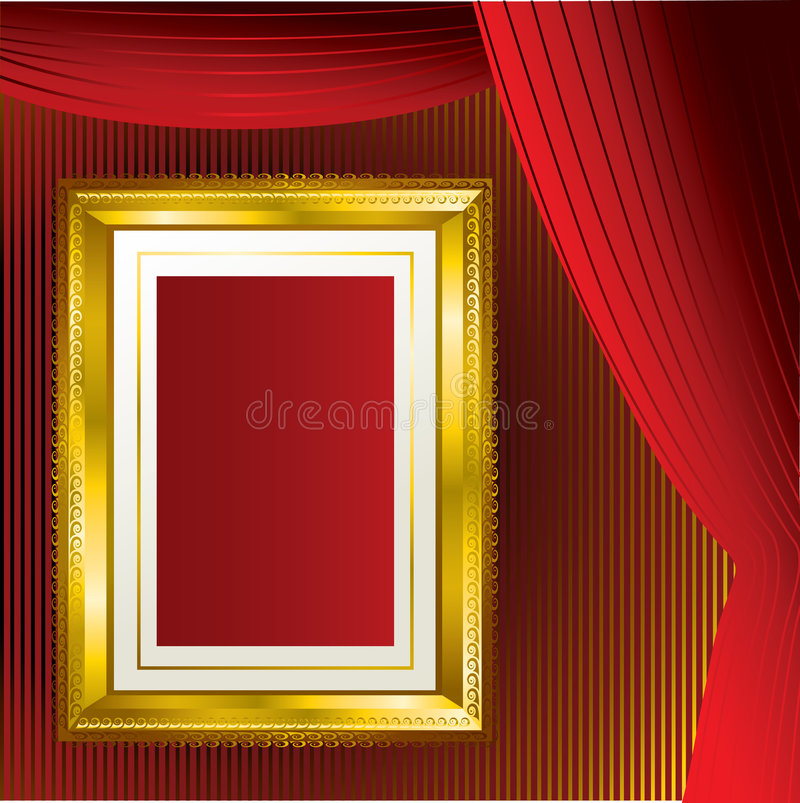 Goldfeldhintergrund stock abbildung