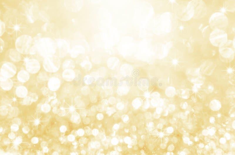 Goldfestlicher Funkelnhintergrund lizenzfreie stockfotografie
