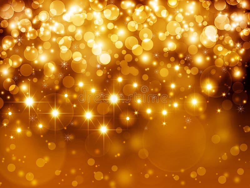 Goldfestlicher Hintergrund stock abbildung