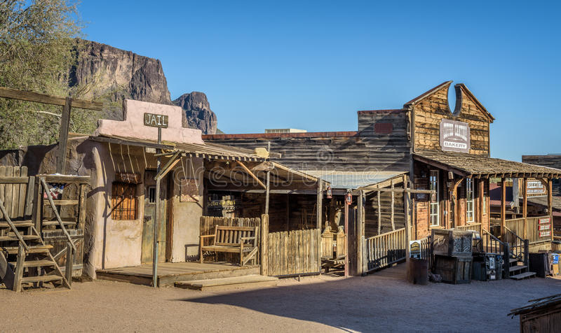 Goldfield Ghost town in Arizona royalty free stock images