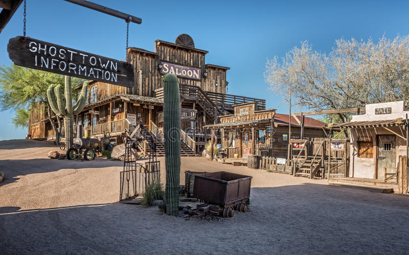 Goldfield Ghost town in Arizona royalty free stock image