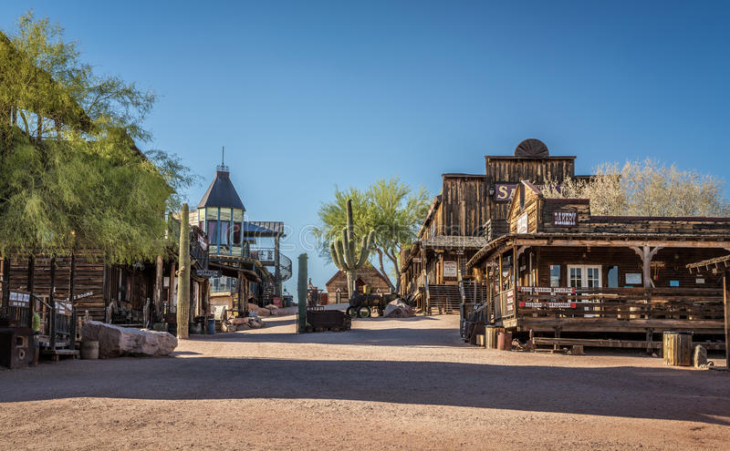 Goldfield Ghost town in Arizona stock photos