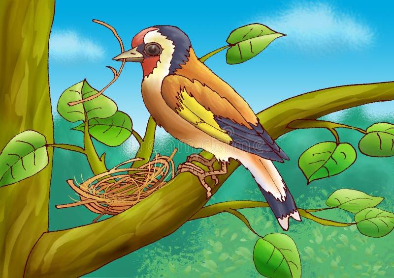 Download Goldfinch stock illustration. Illustration of environment - 7937490