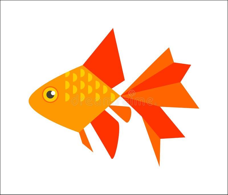 Goldfisch oder veiltail vektor abbildung