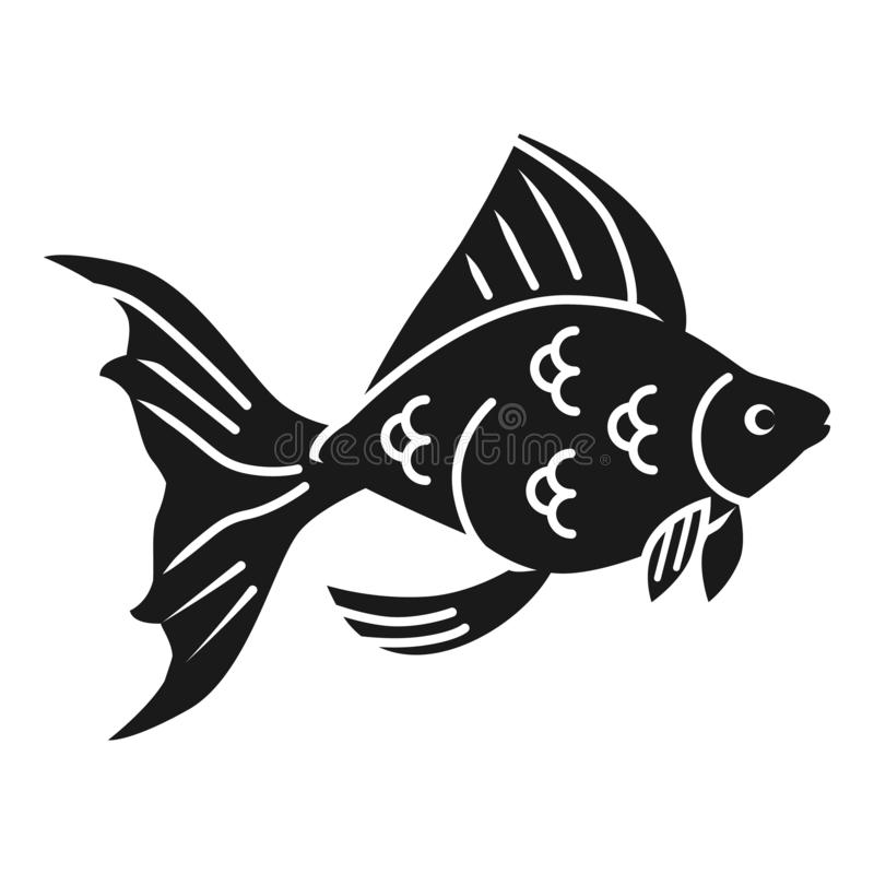 Goldfischprofilikone, einfache Art stock abbildung
